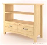 dřevěný televizní RTV stolek z masivního dřeva borovice Castello CAS-S-34 drewm