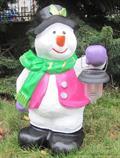 zahradní dekorace z polyesteru sněhulák Z54 welt