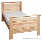 dřevěná jednolůžková postel z masivního dřeva borovice L17 jandr