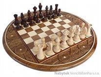 dřevěné šachy vyřezávané Kaseta intarsja 100 mad