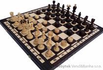 dřevěné šachy plus dáma velké 165 mad