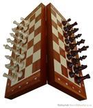 dřevěné šachy tradiční magnetické 140F mad