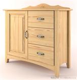 dřevěná stylová komoda z masivního dřeva borovice Castello CAS-S-28 drewm
