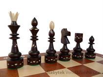 dřevěné šachy umělecké Indické intarzie 119F mad