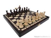 dřevěné šachy umělecké Kralovské vypalované 138 mad