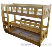 dřevěná patrová postel masivní Matador chalup