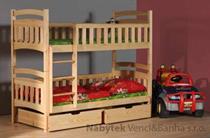 dřevěná patrová postel z masivního dřeva borovice Wox 5 chojm