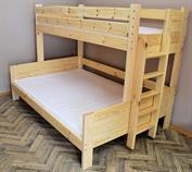 dřevěná patrová postel z masivu, palanda Best chalup