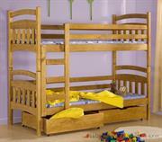 dřevěná patrová postel z masivního dřeva borovice Gabi meblano