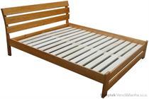 dřevěná dvojlůžková postel z masivního dřeva Futura chalup