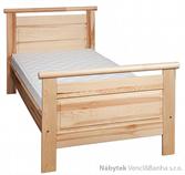 dřevěná dvoulůžková postel z masivního dřeva borovice L17 jandr