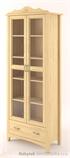 dřevěná prosklená vitrína, knihovna, z masivního dřeva borovice Castello CAS-S-07 drewm