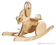 dětská dřevěná houpačka zajíc Hare elm