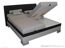 dvoulůžková čalouněná postel 180 Genovia polrym