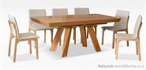 moderní jídelní dřevěný rozkládací stůl S39 chojm