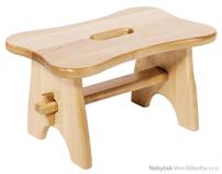 dřevěná dětská stolička Footstool z masivního listnatého dřeva elm