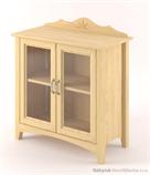 dřevěná prosklená vitrína, knihovna, z masivního dřeva borovice Castello CAS-S-16 drewm