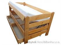 dřevěná jednolůžková postel s úložným prostorem Arena chalup