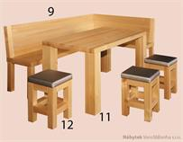 rohový jídelní dřevěný set z masivu Del Sol drewfilip 9