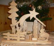 vánoční dřevěný betlem dřevořezba
