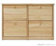 dřevěný botník z masivního dřeva borovice SB119 pacyg