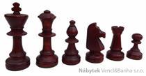 dřevěné turnajové šachové figurky Staunton 5 167A mad