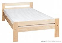 dřevěná jednolůžková postel z masivního dřeva borovice L5 jandr