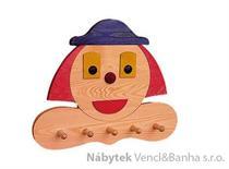 dekorace dětský věšák šašek drewfilip 43