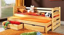 dřevěná rozkládací dvojí postel z masivního dřeva borovice Toska meblano