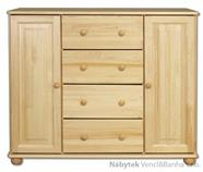 dřevěná komoda, prádelník z masivního dřeva borovice KD117 pacyg