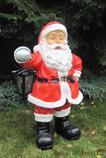 zahradní dekorace z polyesteru Santa Claus červený Z58 welt