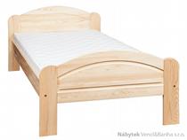 dřevěná dvoulůžková postel z masivního dřeva borovice L1 jandr
