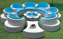 Luxusní sedací souprava, zahradní ratanový nábytek, z umělého ratanu ETPGR130 jandr