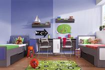 moderní dětský pokoj, studentský pokoj  z dřevotřísky Lido 7 gib