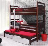 dřevěná patrová postel z masivního dřeva borovice Igor meblano