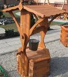 dřevěná zahradní dekorační studna 5 botodre pr.70