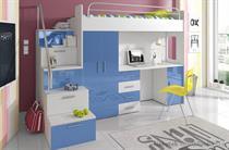 sestava nábytku moderní patrová postel z dřevotřísky Raj 4S karol