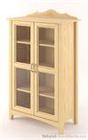 dřevěná prosklená vitrína, knihovna, z masivního dřeva borovice Castello CAS-S-12 drewm