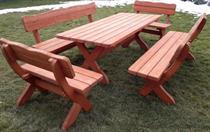 dřevěný zahradní nábytek smrk 4 cm 1S+2L+2K euromeb 7