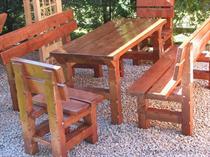 dřevěný zahradní nábytek vencl set 1+2+2 Slawek 2 botodre