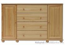 dřevěná komoda, prádelník z masivního dřeva borovice KD123 pacyg