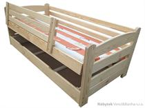 dřevěná dvojlůžková manželská postel s úložným prostorem Smyk chalup