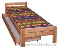 dřevěná dvojlůžková postel z masivního dřeva drewfilip 4 R