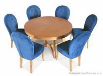 moderní jídelní dřevěný rozkládací kulatý stůl S40 chojm