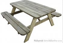 dřevěný zahradní nábytek pivní set hranatý euromeb 20