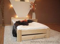dřevěná dvojlůžková postel z masivního dřeva Euro maxidre