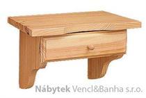 dřevěná závěsná polička z masivního dřeva borovice drewfilip 47