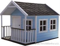 """dřevěná zahradní dekorace """"Pohádkový domeček"""" 30 euromeb"""