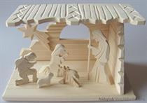 dřevěný vánoční dřevěný betlém drewfilip 81