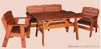 dřevěný zahradní nábytek set Jedrzej 1+1+2 (160x85) drewfilip 26
